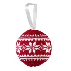 Новогодний шар «Скандик» (цвет — красный)