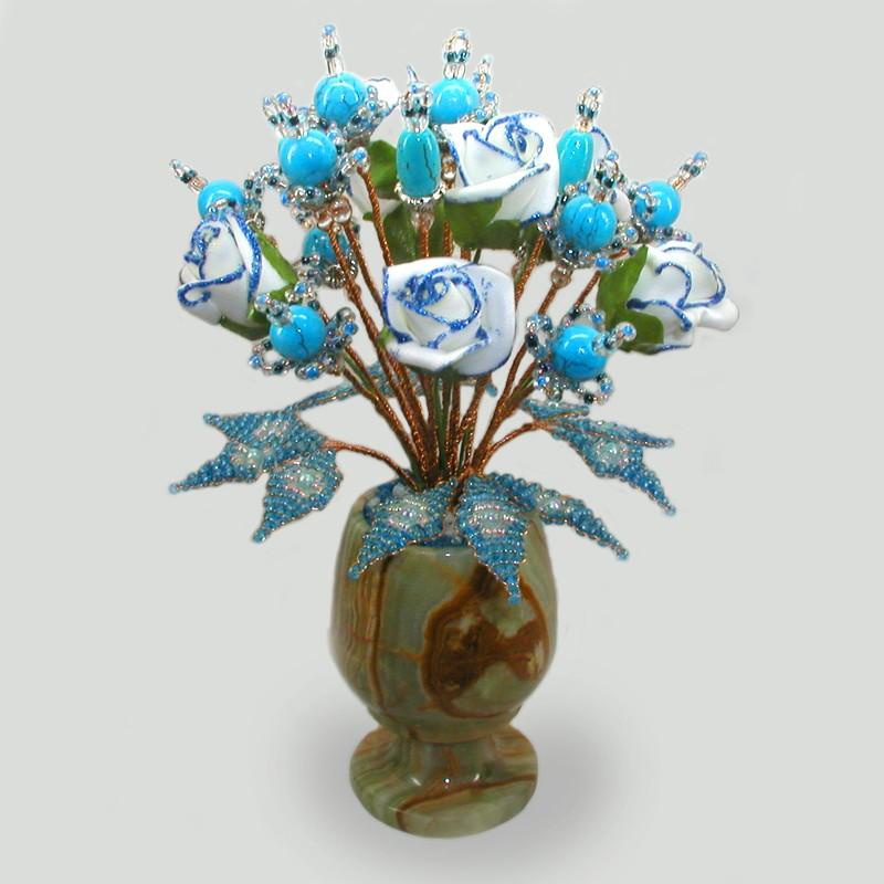 Цветы из бирюзы Нежная страсть