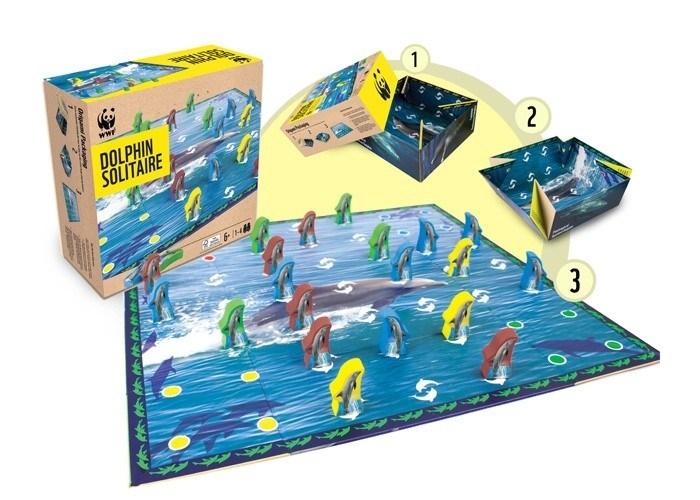 Настольная игра WWF Солитер Дельфин