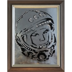 Картина с кристаллами Сваровски Гагарин