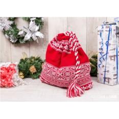 Мешок для подарков Новогодний (цвет — красный)