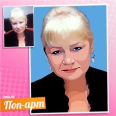 Женский Поп-арт портрет по фотографии