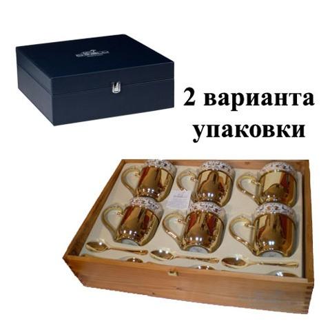 Чайный набор на 6 персон? стаканы с подстаканниками, ложки