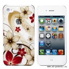 Чехол для iPhone 4/4S Flower Wave серия Beauty