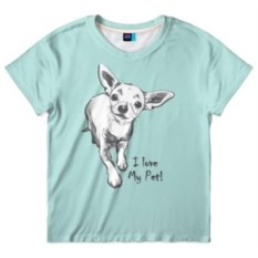 Детская футболка I love my pet