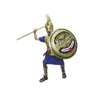 Тяжеловооруженный древнегреческий пехотинец