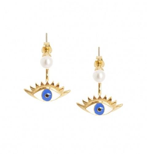 Серьги золотого цвета в форме глаза