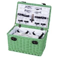 Пикник-сет на 4 персоны с набором керамической посуды