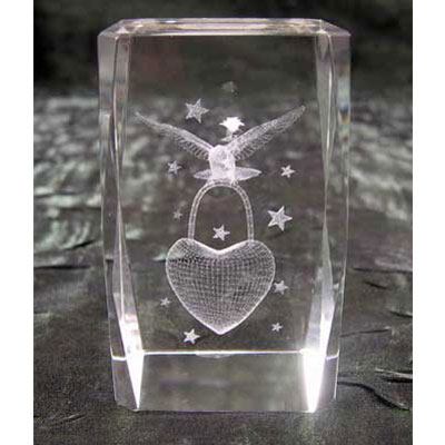 Кристалл «Голубь с сердцем»
