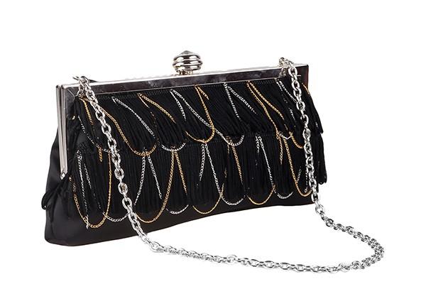 Вечерняя черная женская сумка Fabretti