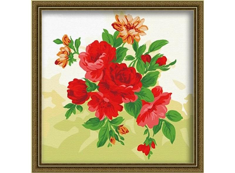 Картины по номерам «Яркие пионы»