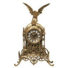 Часы с орлом из бронзы