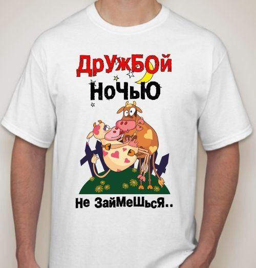 Мужская футболка Дружбой ночью не займешься