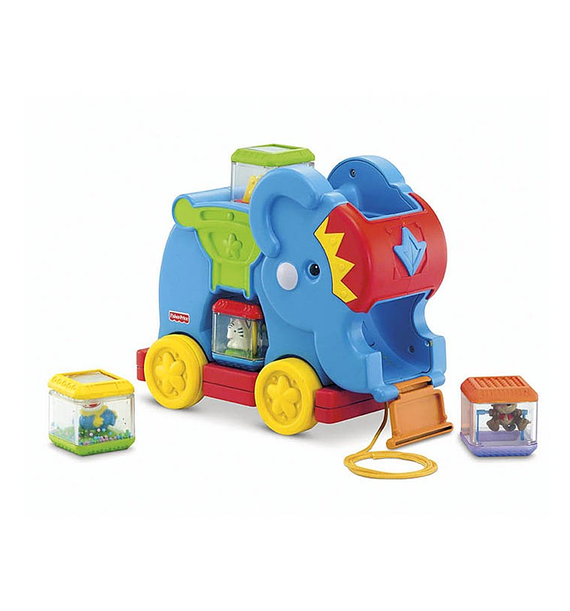 Игрушка Слоненок с кубиками Fisher Price