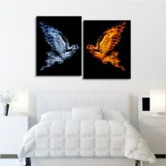 Модульная картина Вода и пламя