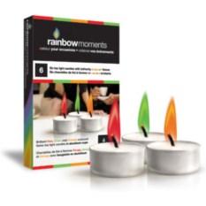 Чайные свечи с цветным пламенем в стеклянной подставке