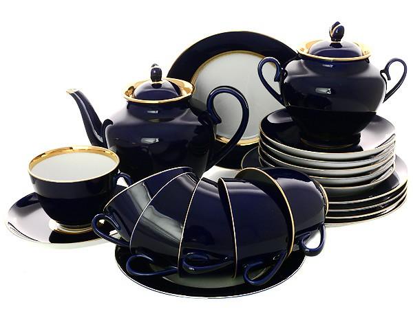 Сервиз фарфоровый чайный, рисунок Ночь