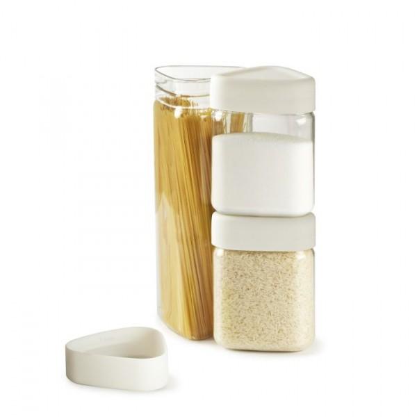 Контейнеры для сыпучих продуктов Tricon, 3 шт., белые