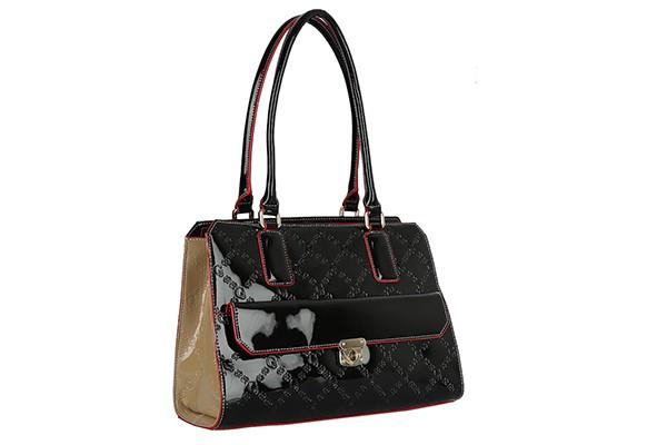 Черная кожаная женская сумка Galaday