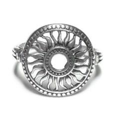 Кольцо Солнце, серебро 925