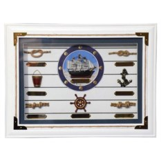 Декоративное панно Морское со светлым фоном