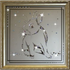 Картина с кристаллами Swarovski Кролик