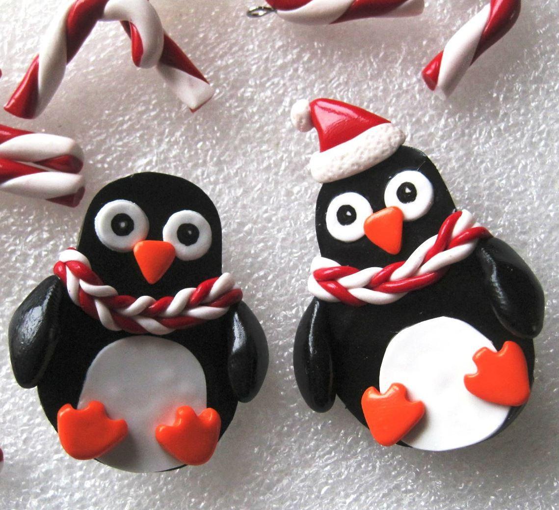 Серьги Пингвины
