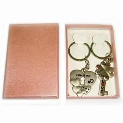 Брелок металлический Ключ и замок