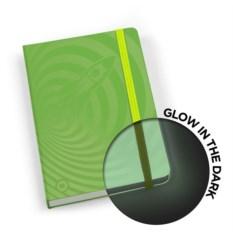 Зеленая записная книжка glowbook, светящаяся в темноте