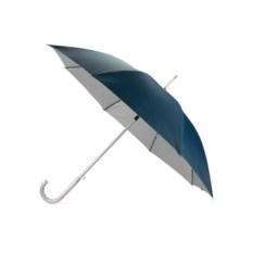 Синий полуавтоматический зонт-трость с алюминиевой ручкой