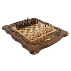 Средние резные шахматы и нарды Священная гора