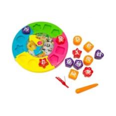 Часы сортер-пазл с лабиринтом «Учимся играя»