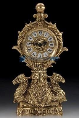 Часы из бронзы Каракум, цвет золотой