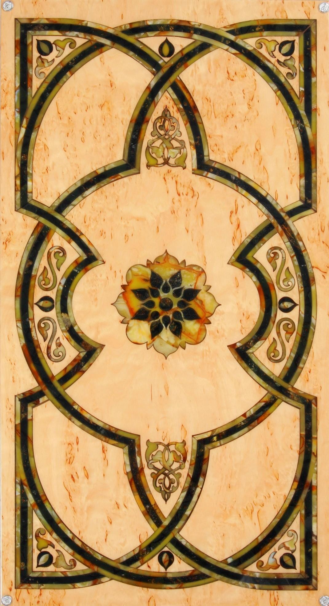 Подарочные нарды янтарные Арабская ночь