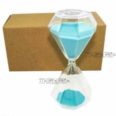 Песочные часы Алмаз с голубым песком