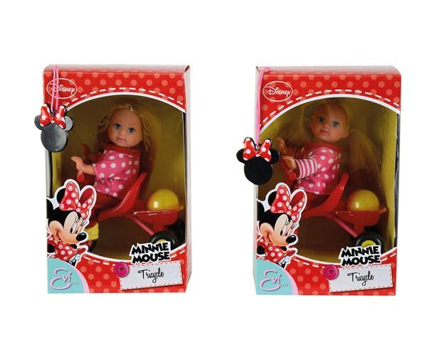 Кукла Еви minnie mouse на велосипеде от Simba