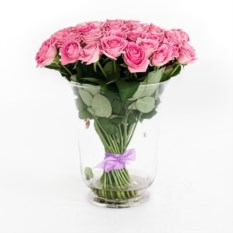 Букет из 51 розовой розы высотой 50 см