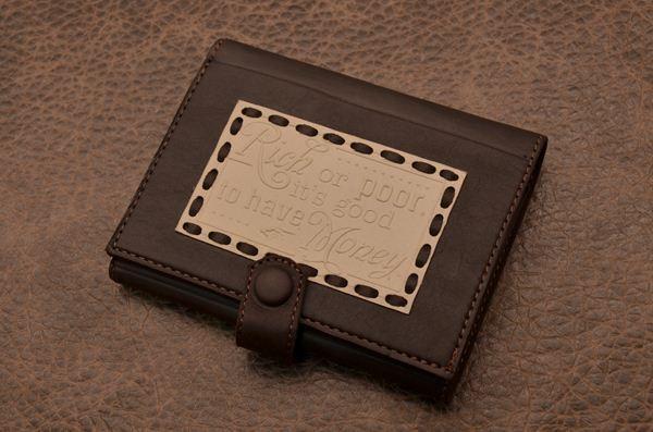 Портмоне кожаное Magistro, темно-коричневый