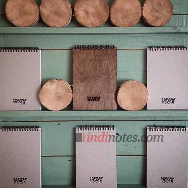 Скетчбук в деревянной обложке WAY Wooden Album формат A5