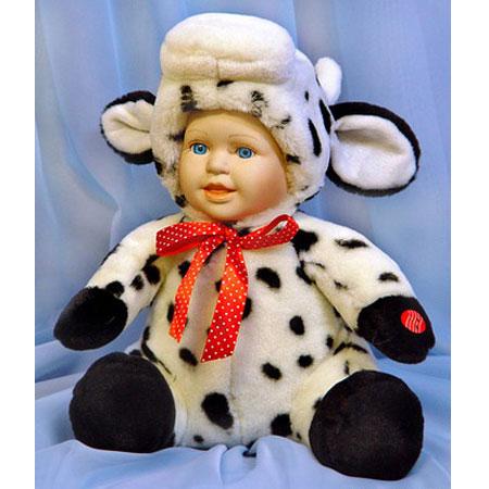 Меховая кукла «Коровка»