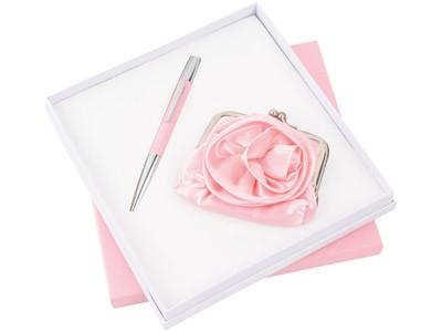 Набор: шариковая ручка и кошелек «Роза»