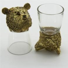 Набор рюмок-перевертышей с головами животных Медведь