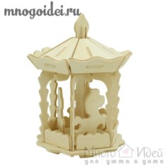 Деревянный конструктор 3D Карусель