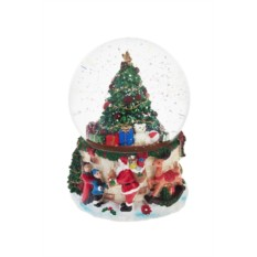 Новогодний музыкальный сувенир Шар - Елочка с подарками