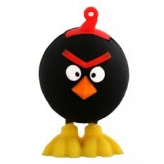 Флешка Злая птица, черная на 16 гб