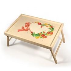 Столик для завтрака «Сердце из тюльпанов»