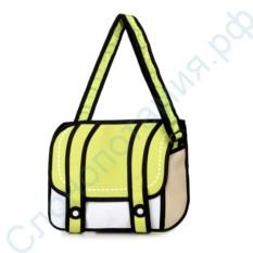Мультяшная 2D сумка Jump From Paper, желтая