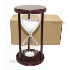 Часы песочные на 30 минут с белым песком (высота 22 см)