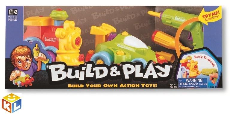 Игровой набор Собери и играй. Машина и паровозик, Keenway