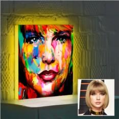 Портрет в стиле Экспрессивный Реализм на 3D-светильнике
